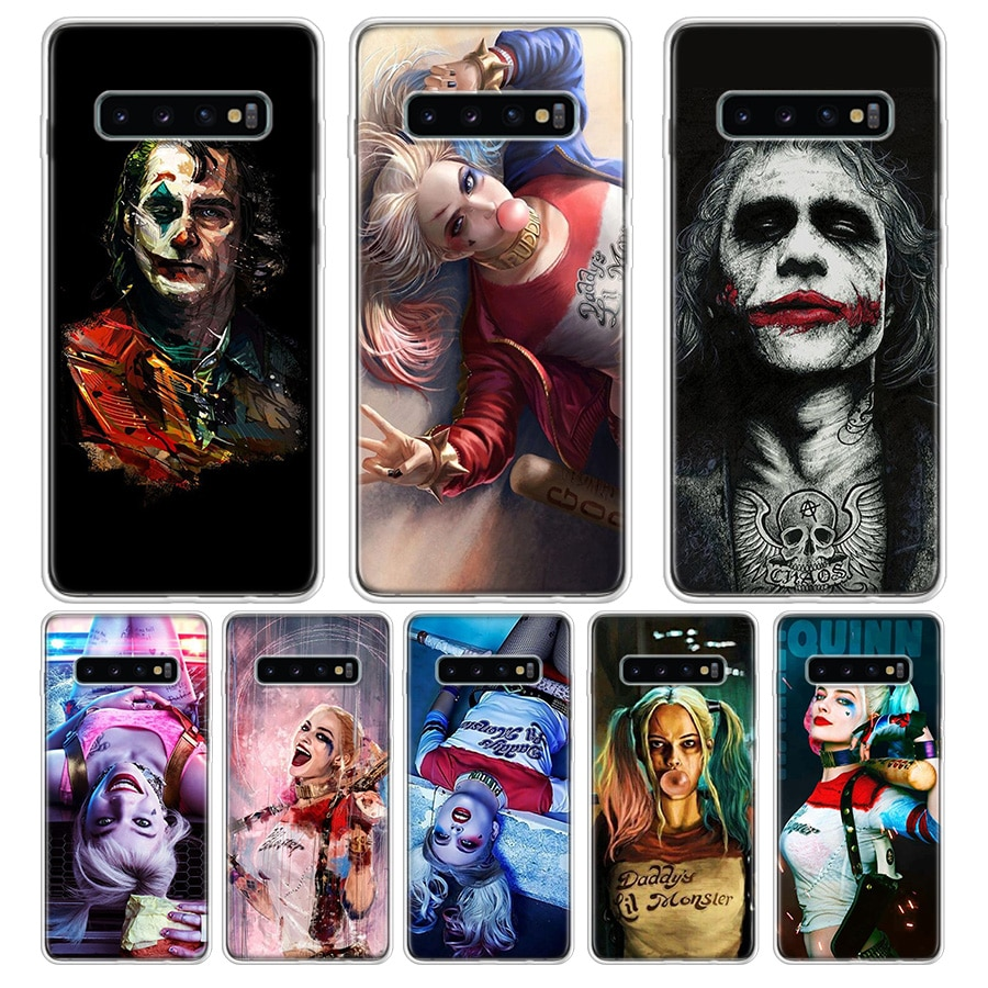 Funda de teléfono Harley Quinn para Samsung Galaxy S7 S8 S9 Plus J4 J6 J8 2018 S7 Edge Note 8 9 10 Coque contraportada de silicona suave TPU