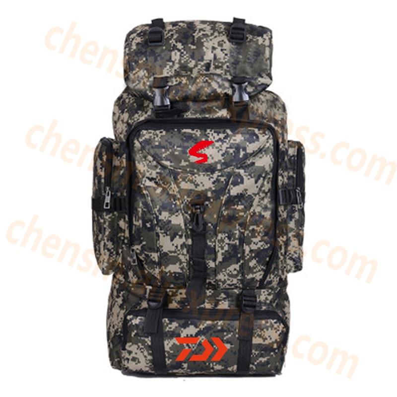 2020 Daiwa Fishing Backpack 70L Hunting Camping Rucksack Mountaineering Unisex Travel Outdoor DAWA Fishing Multi-pocket Backpack