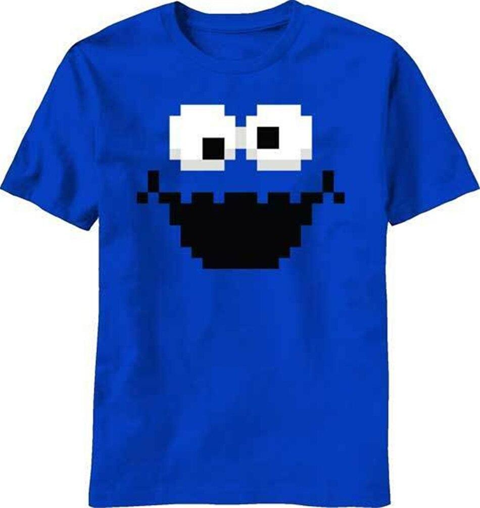 Ulica sezamkowa piksel 8-bitowy ciasteczko potwór koszulka koszulka fitness Plus rozmiar