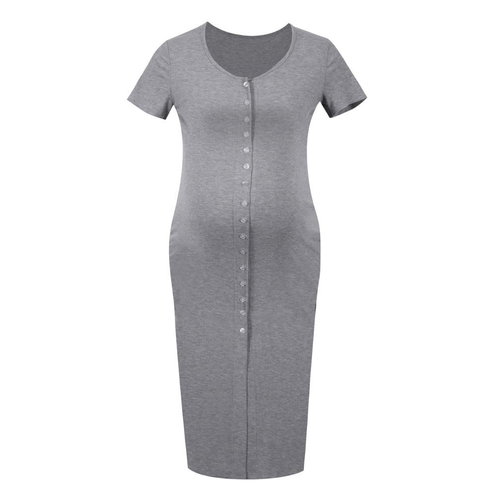 Pregnant Short Sleeve Knit Dress Maternity Jersey Dress Nursing Dresses Breastfeeding Baby Shower Dress Pregnancy Clothes