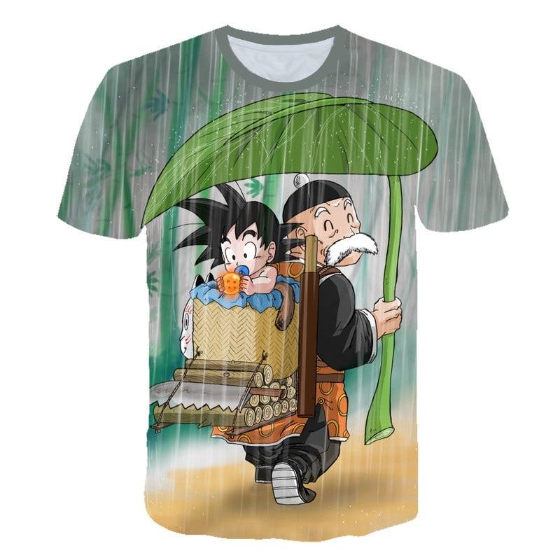 2019 nowy Dragon Ball DBZ Bulma Super Saiyan Vegeta 3d drukuj dzieci T shirt japonia Anime T koszula lato moda dla dzieci t shirt