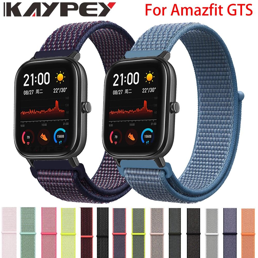 Correa tejida de nailon de 20mm para Xiaomi Huami Amazfit GTS Smart Watch pulsera de muñeca portátil para Amazfit gtr 42mm