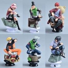 7 CM 6 pièces Naruto figurine jouets 12 Styles Q style Zabuza Haku Kakashi Sasuke Naruto Sakura PVC modèle poupée Collection jouet