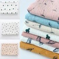 100x135cm soft 2 layers cotton printing pattern gauze baby blanket saliva towel diy childrens cloth fabric making underwear