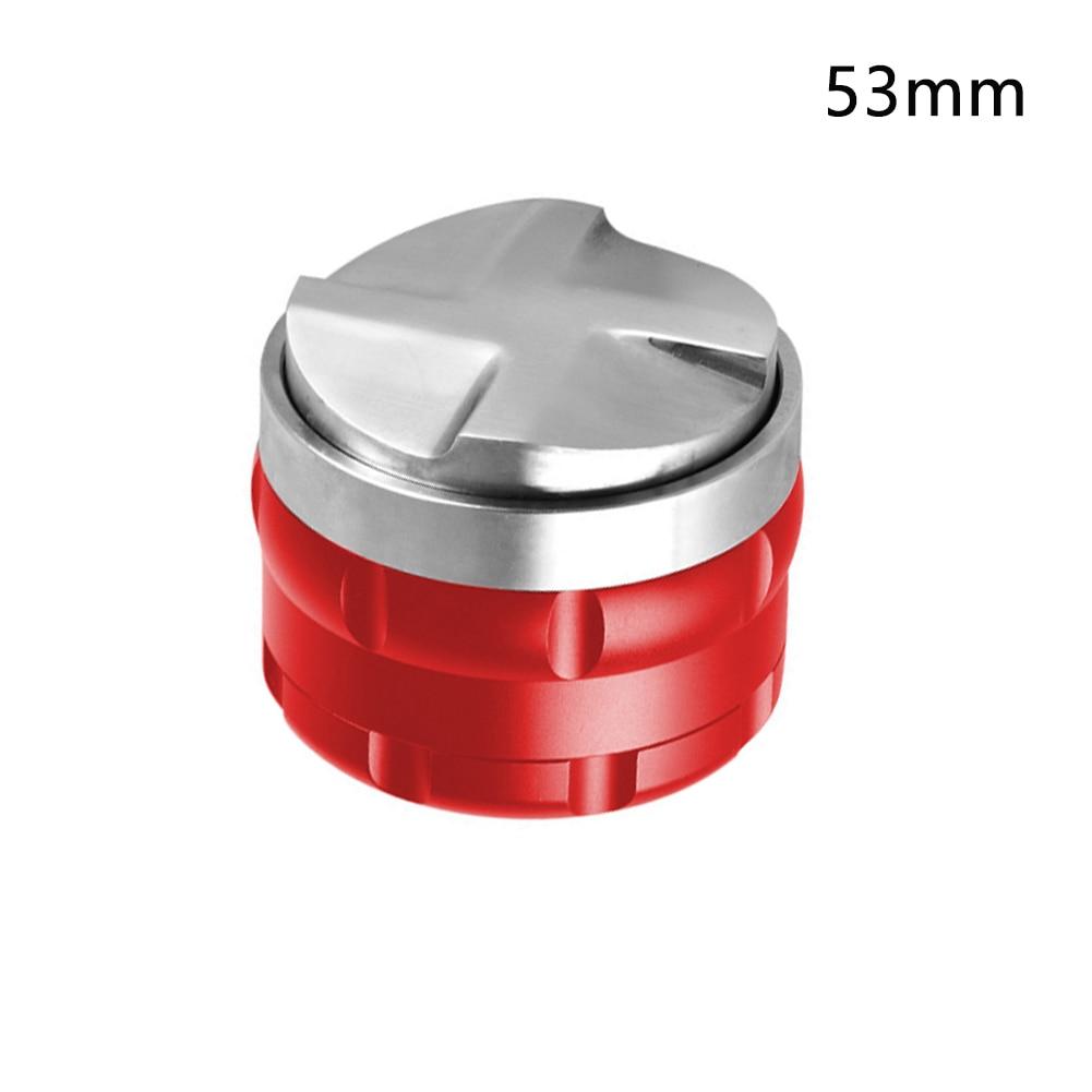 53mm 58mm nivelador antideslizante de acero inoxidable ajustable Mini profesional Tamper doble cabeza distribuidor de café Barista herramienta de prensa