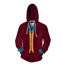 Movie Joker 2019 Batman Clown Cosplay Costumes Hoodies Sweatshirts for Men Women Halloween Costumes 3D Hoodie