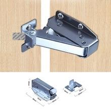 10Pcs/Lot Steel Nylon Roller Touch Latch Loft Door Catch Hatch Push Latch Auto Sprung Attic Cupboard Push To Open