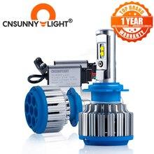 CNSUNNYLIGHT 자동차 헤드 라이트 H7 H4 LED H8/H11 HB3/9005 HB4/9006 H1 H3 9012 H13 9004 9007 70W 7000lm 자동 전구 전조등 6000K 라이트