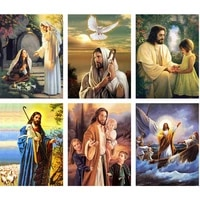 diamond painting religion 5d diy full round drill embroidery icons jesus beaded pictures cross stitch home decoration