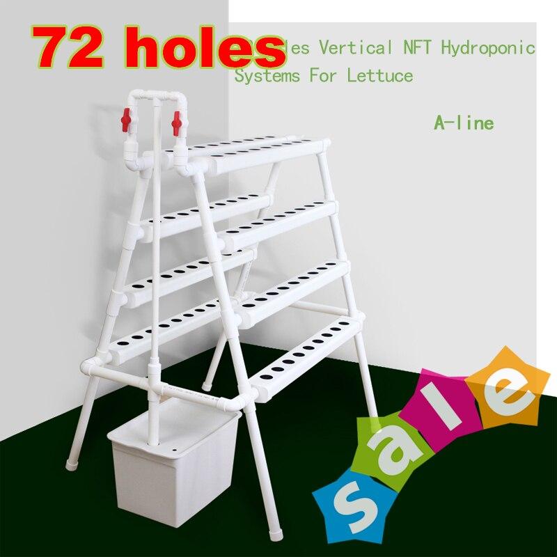 Sistema hidropónico de jardín de tuberías de Pvc de alta calidad comercial, sistemas hidropónicos de Interior de cultivo Vertical con 72 agujeros