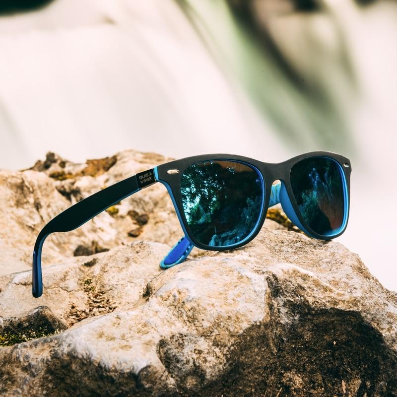 Солнцезащитные очки QUISVIKER поляризационные для мужчин и женщин, брендовые дизайнерские спортивные солнечные очки для рыбалки, походов, вожд...