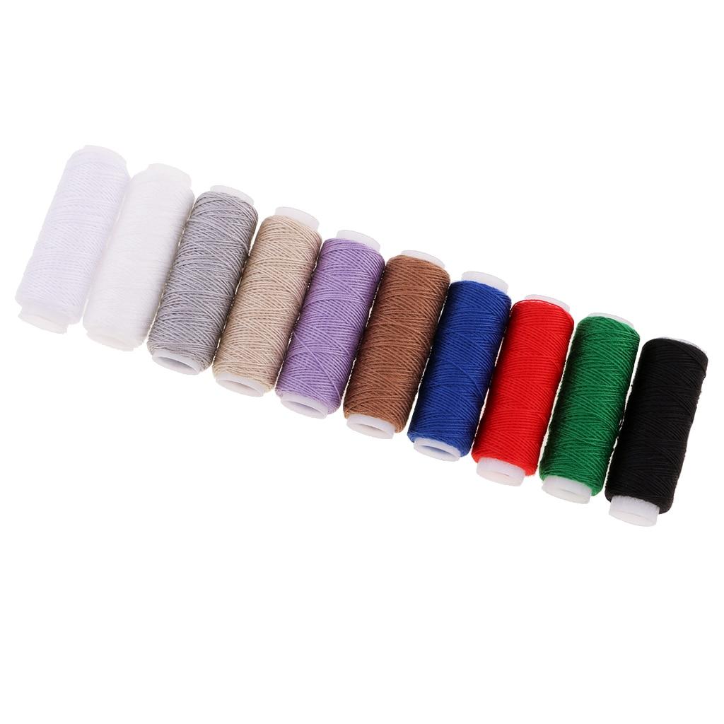 Kit de reparación de tapicería 10 piezas Extra fuerte Jeans Thread & 7 Uds tapicería alfombras y cuero agujas curvadas Set