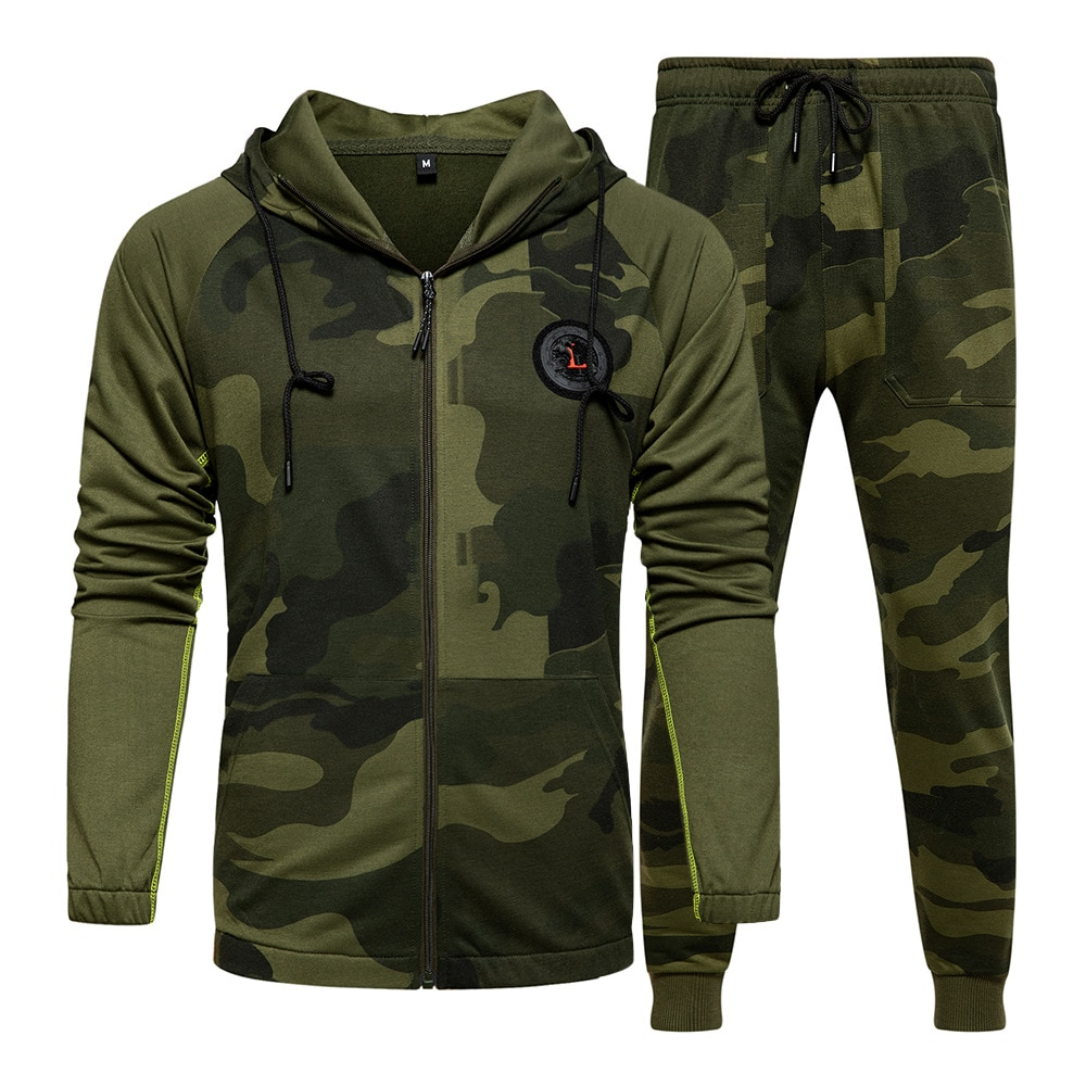 Men Sports Suit Spring and Summer New Mens Camouflage Sweater Large Size S-XXL Fashion Hoodies