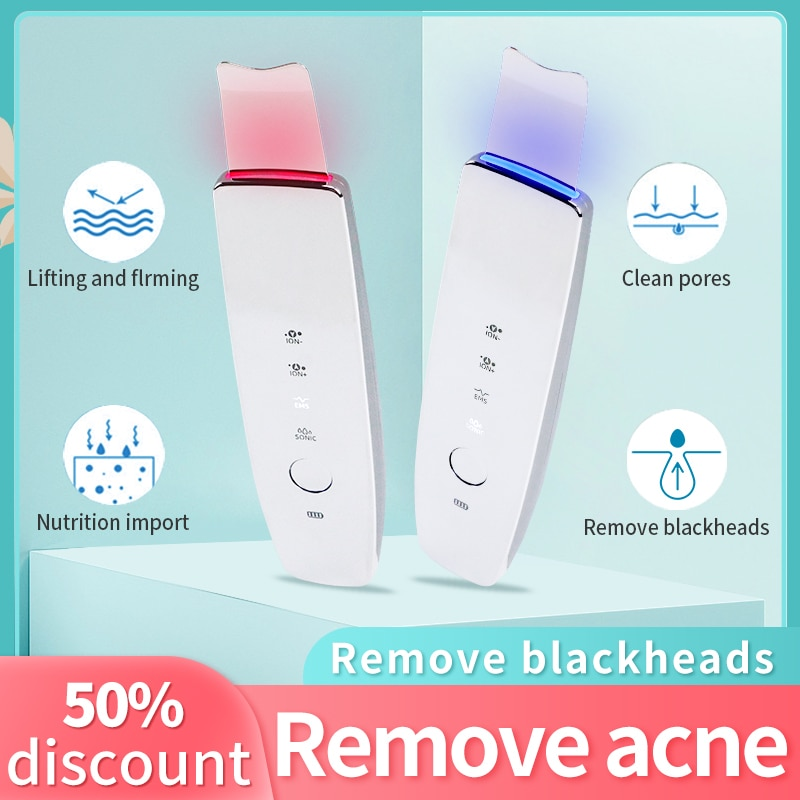 Peeling ultrassonico skin clean remove blackheads face cleaner Rechargeable Skin Care Device Beauty Instrument