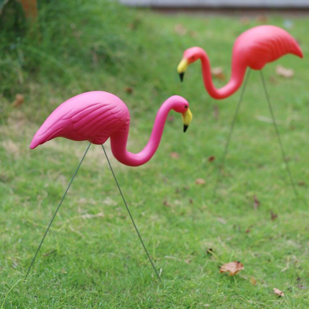 Grande décoration artificielle plastique de jardin 44cm/33cm   Décor de jardinage pour jardin, flamand rose, oiseau Design paysage pour Villa mariage