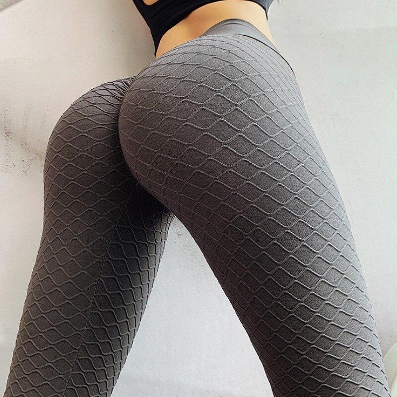 Polainas de las mujeres Leggings fitness mallas con cintura alta Anti celulitis polainas entrenamiento Sexy azul Jeggings Modis Sportleggings