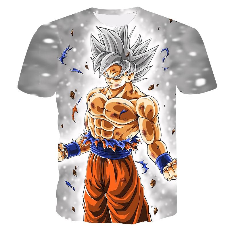 AliExpress - Summer 3D Printing Japan Dragonball Anime Goku Boy's T-shirt Fashion Casual Short Sleeve Children's Sports Undershirt Kids Tops