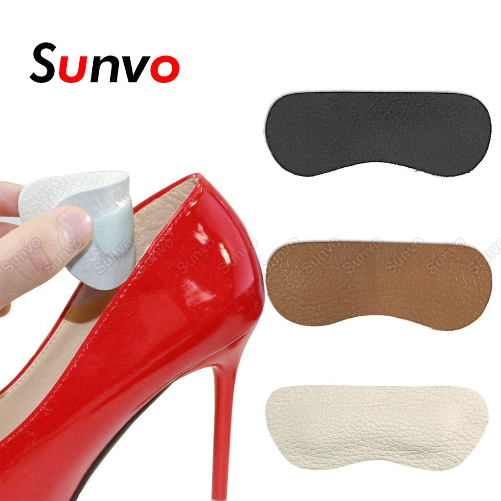 soumit 5 pair heel pad wear resistant fashion heel protector foot adhesive liner pads pain relief cushion for women shoe sole Leather Heel Liner Grip Protector Pads for Women High Heels Shoe Size Reduce Shoes Insert Stickers Heel Foot Pain Relief Cushion