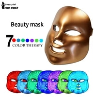 7 colors led light facial mask anti acne freckle removal beauty instrument face care photon therapy skin rejuvenation apparatus