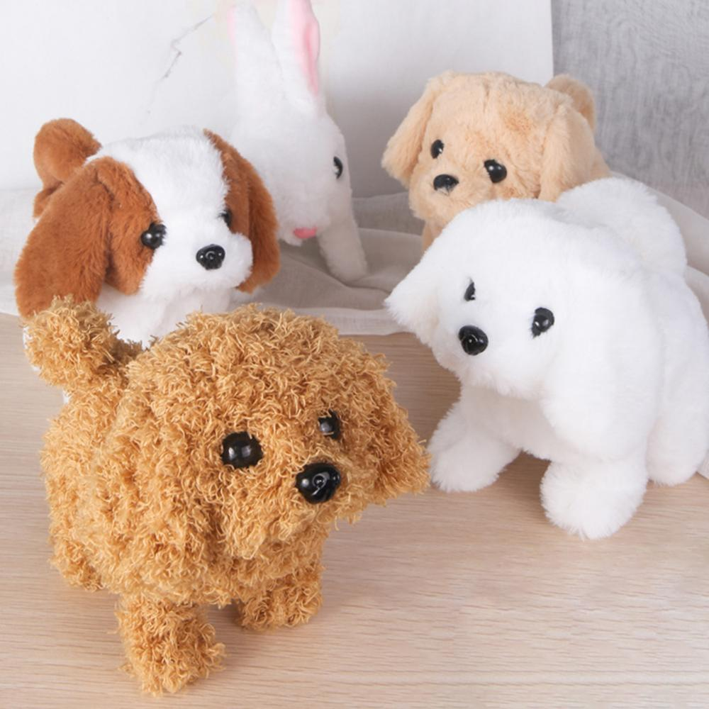 Electric Plush Simulation Display Mold Teddy Corgi Dog Rabbit Tail Wagging Ass Shaking Toy Robot for Children Interesting gifts