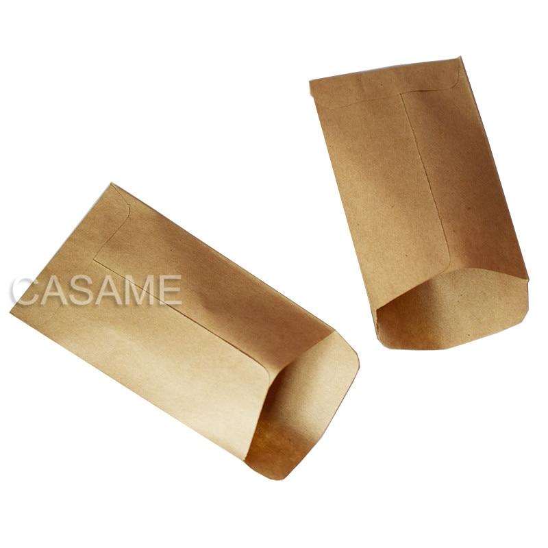 6x10cm sacos de biscoito 100pc saco de papel kraft mini envelope sacos de presente sacos de doces lanche pacote de cozimento suprimentos presente envoltório caixa de cola