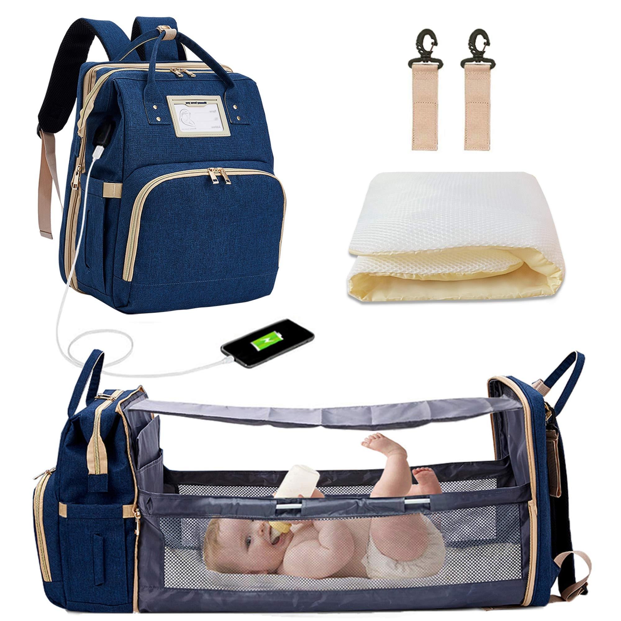 Diaper Bag Backpack For Mom Portable Crib  Mummy Maternity Nappy Baby Bag Travel Backpack Designer Nursing Bag For Baby Care