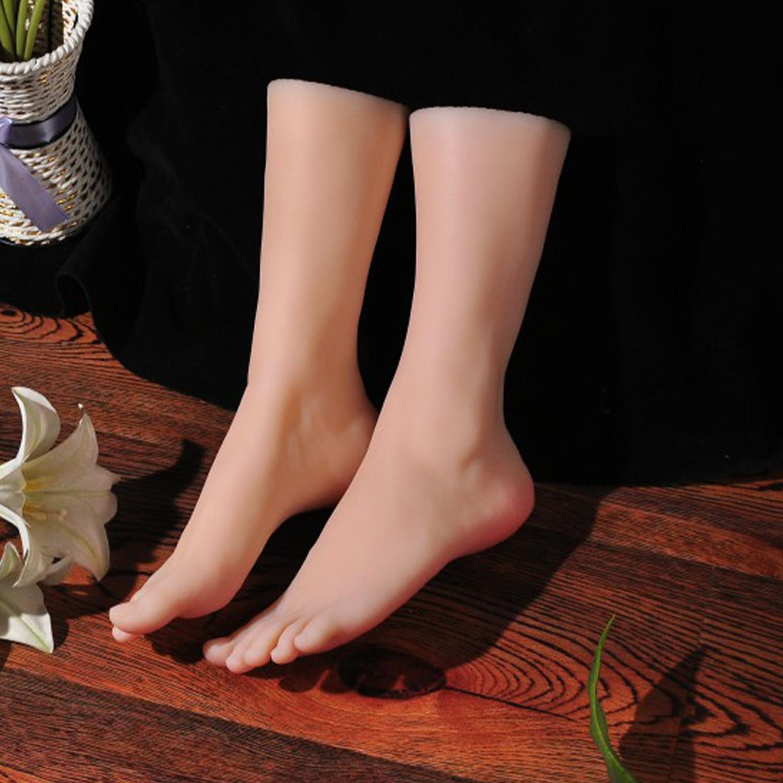 مانيكان-عرض للأظافر الصناعية ، نموذج قدم ، مطاط ، بلاستيك ، سيليكون ، أنثى ، عرض الساق ، دمية دمية TPE 3700T