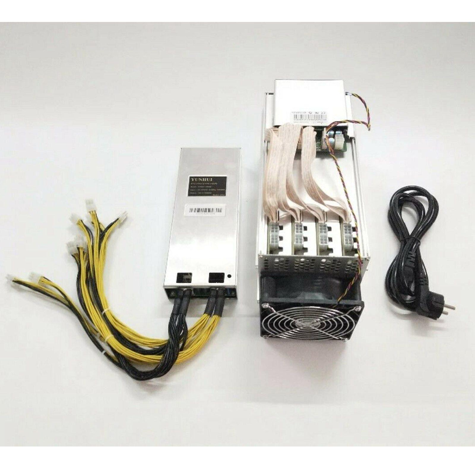 Used Scrypt Miner ANTMINER L3+ LTC 504M With BITMAIN APW3++ Plus PSU Miner Mining Card 110V-240V Black