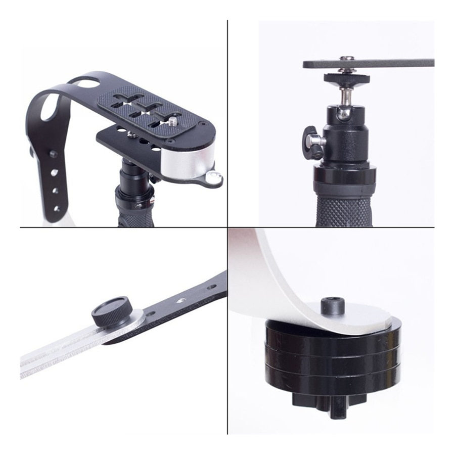 Digital Camera Mobile Phone Stabilizer Aluminum Alloy Bracket with Mobile Phone Clip Suitable for Camera/smartphone enlarge
