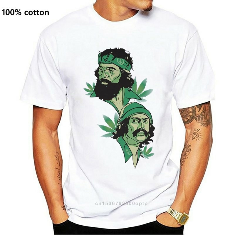 New Cheech & Chong Tribute T-Shirt 100% Cotton Up In Smoke Next Movie For Youth Middle-Age The Old Tee Shirt
