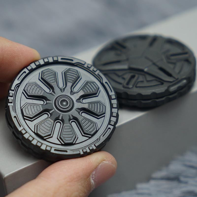 Metal Pop Coin PPB War Fidget Spinner Fingertip Ring Tide Play EDC Magnetic Finger Stress Reliever Pocket Toys Funny Gifts