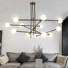 Lámpara colgante de molécula nórdica para comedor, dormitorio, cocina, Isla, Araña de burbujas, lámpara moderna para decoración del hogar de mediados de siglo