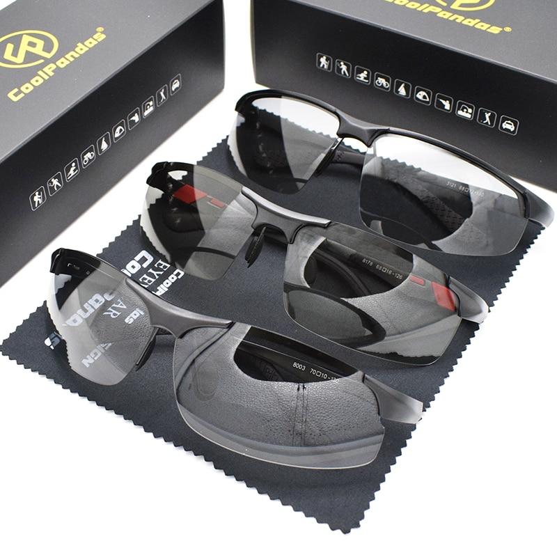 CoolPandas-نظارات شمسية مستقطبة للرجال ، نظارات فوتوكروميك للقيادة ، UV400 ، 3 قطعة