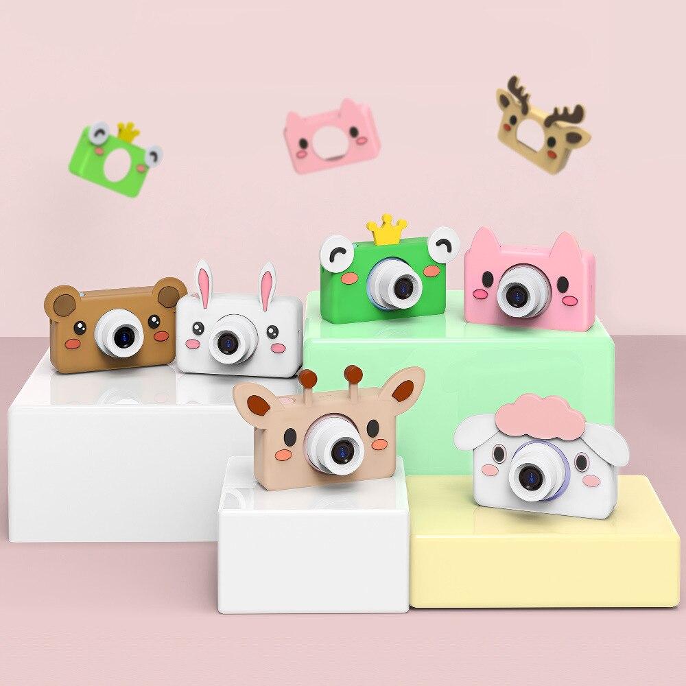Cartoon Animals Kid Digital Camera 2 Inch Screen HD 8MP with 32g Micro SD Card For Children Brithday Gift