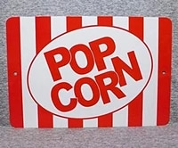 metal sign popcorn carnival circus movie theater popping popped salt butter home snack wall decor kitchen