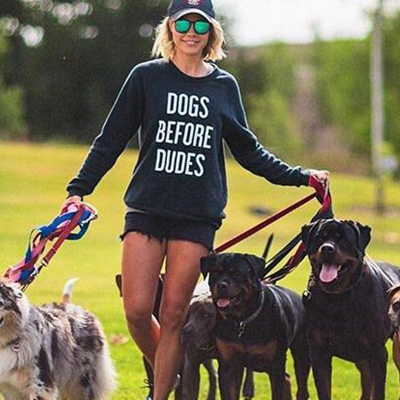Sudaderas de cuello redondo con diseño gráfico de perros para amantes de los perros