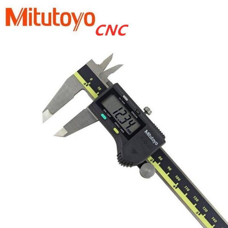 Mitutoyo-calibrador Digital de acero inoxidable, herramientas de mano con batería de 6...