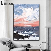 abstract landscape painting oil painting sea landscape wall art sunrise valley office hotel living room decoration painting art