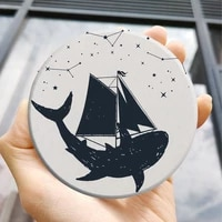 diatom mud printed cup coaster art craft coffee tables golden home decoration accessories modern coasters silicon placemat hom