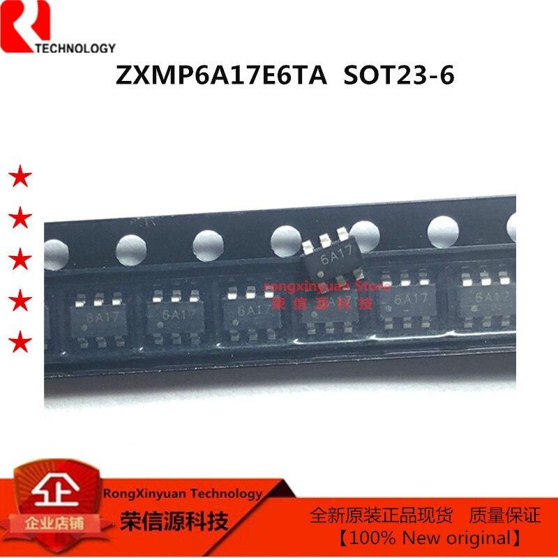 ZXMP6A17E6TA маркировка 6A17 SOT23-6 ZXMP6A17E6 60V P-CHANNEL режим улучшения MOSFET 100% Новый оригинальный