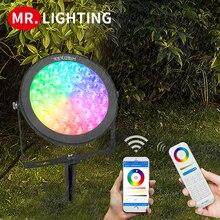 Miboxer 15 Вт RGB + CCT умный светодиодный светильник для сада FUTC03 AC100 ~ 240V IP65 Водонепроницаемый светодиодный уличный Лампа Сад Освещение