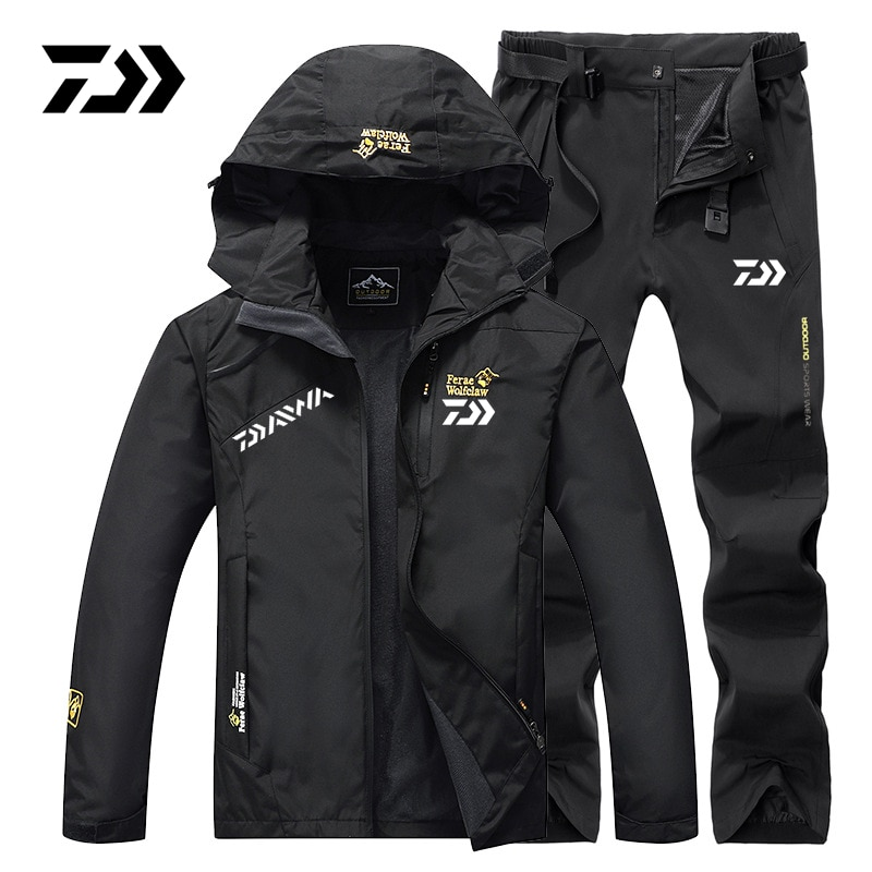 Daiwa Fishing Suit Men Spring Autumn Thin Fishing Clothing Hooded Sports Hiking Fishing Jacket Outdoor Clothes Fishing Wear