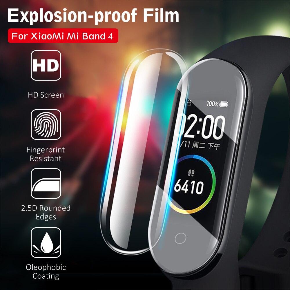 Protetor de tela para xiaomi mi banda 5 4 filme hd tpu macio película protetora para xiaomi miband 5 band5 banda 5 pet película protetora