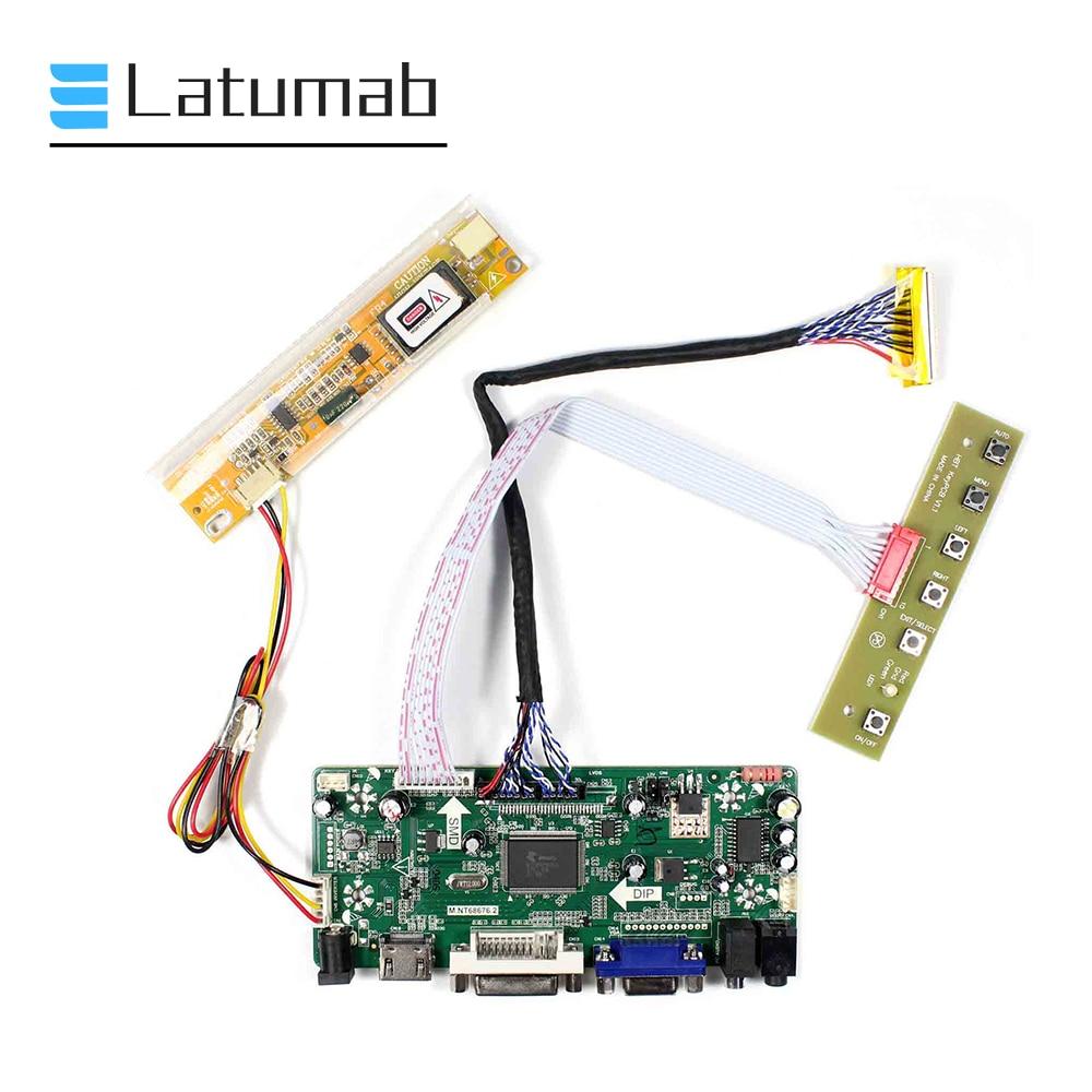 Latumab nuevo conductor kit para LP154WX4 TIAA/LP154WX4 TLAB calcomanía + HDMI + DVI + VGA LCD LED LVDS Placa de controlador