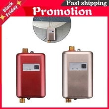 3800W Water Heater Mini Tankless Instant Hot  kitchen Heating Thermostat US  Plug Intelligent Energy