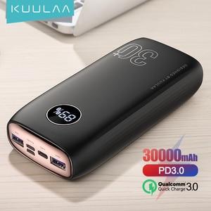 Внешний аккумулятор KUULAA на 30 000 мА · ч с портами USB Type-C и поддержкой быстрой зарядки