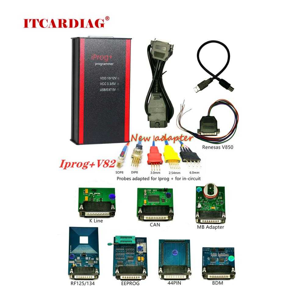 Iprog + Iprog Pro-programmateur V83   Support IMMO + Correction de kilométrage + réinitialisation de lairbag jusquà 2019 remplacement Carprog/Tango/Digiprog3