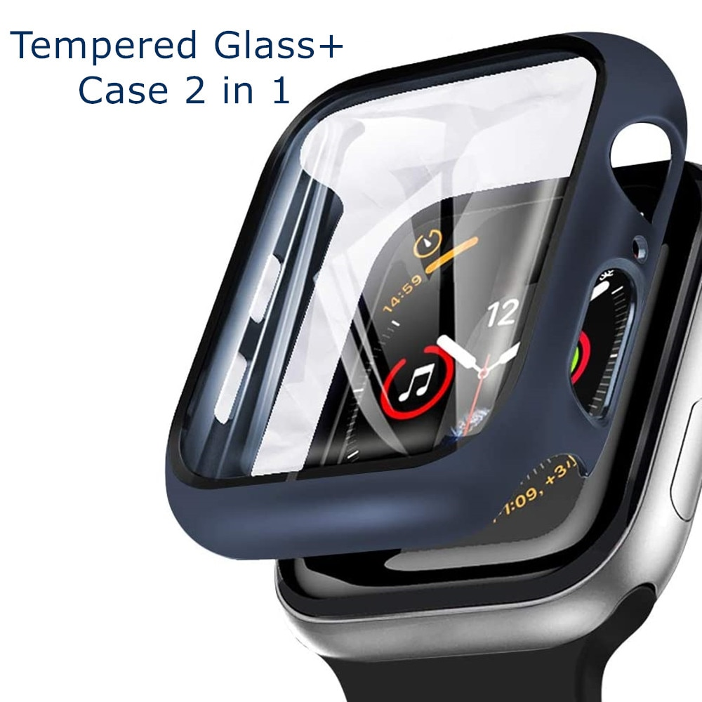 Cristal templado para Apple Watch, protector de parachoques de 42mm y 38mm...