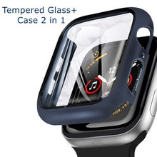 Glass + Cover For Apple Watch case 6/SE/5/4/3/2/1 iWatch 42mm 38mm bumper Tempered Glass for apple w