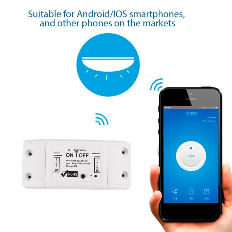 Universal WiFi Smart Light Switch Breaker Mobile App Control For Smart Life APP Alexa Google Family Intelligence System NEW